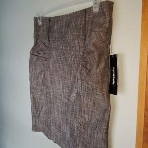 Career Brown Knee Pencil Skirt sz 13